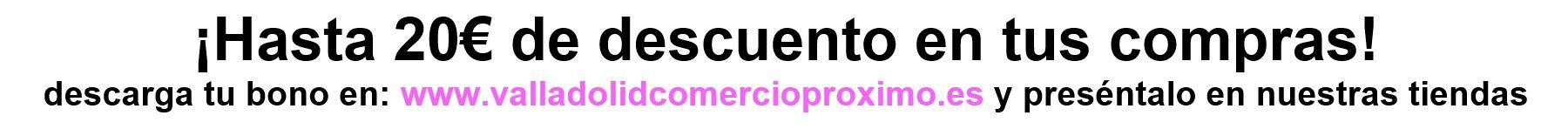 !Hasta 20€ de descuento en tu peluca! descarga tu bono en:  www.valladolidcomercioproximo.es y preséntalo en nuestras tiendas